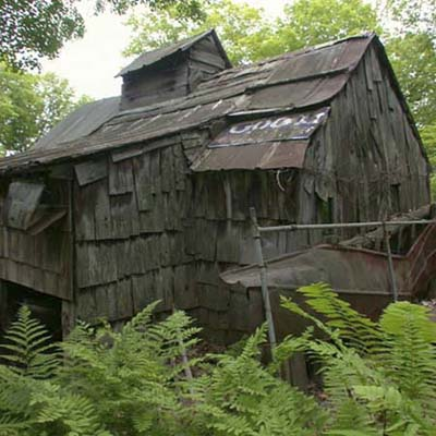 Vermont maple syrup refinery ruin