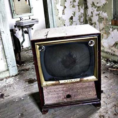 television in abandoned house in South
