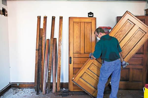 removing pocket door