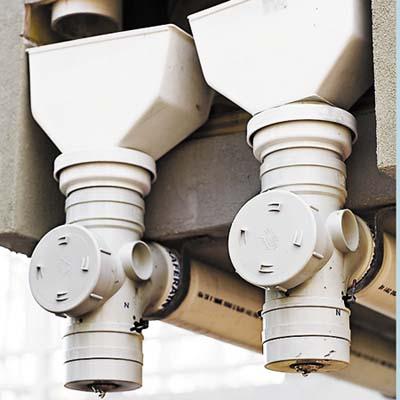 copper gutters for rainwater cistern in Key Largo eco-friendly house