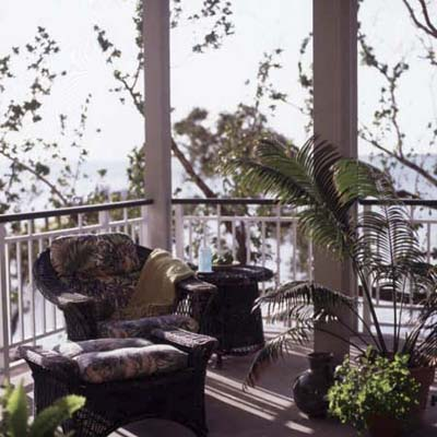 screened porch in Key Largo eco-friendly house