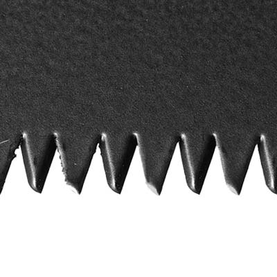 close-up of hybrid saw teeth