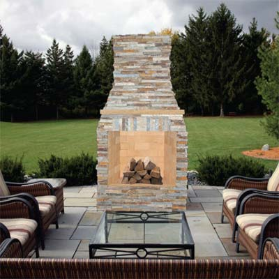 prefab fireplace showcased at the 2011 international builders show