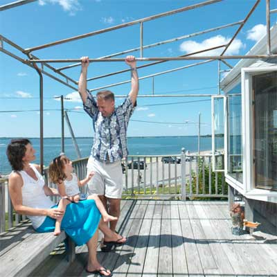 A Family Moves Home to this waterfront barrington rhode island beach house