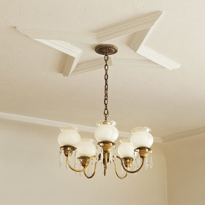 completed ceiling medallion restoration during the toh tv los angeles house project remodel