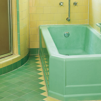 art deco look for bathroom tile restored during the toh tv los angeles house project remodel
