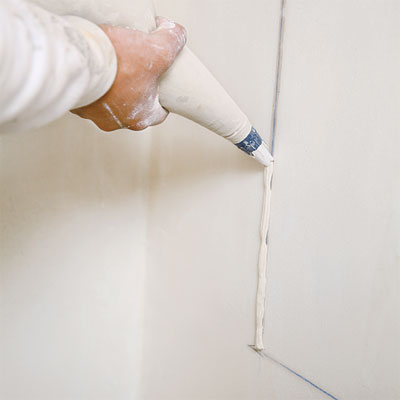 canvas grout bag used to restore plaster detail during the toh tv los angeles house project remodel