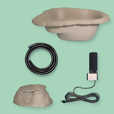 a backyard pond DIY kit