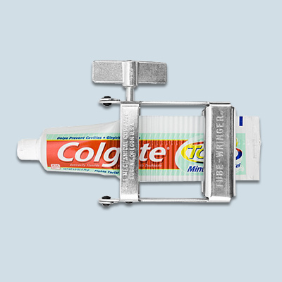 toothpaste tube wringer wacky bath product