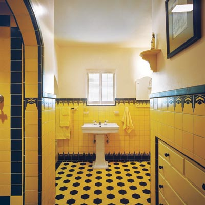 Art deco how to create a modern bath in a vintage style for Bathroom ideas 1920s home
