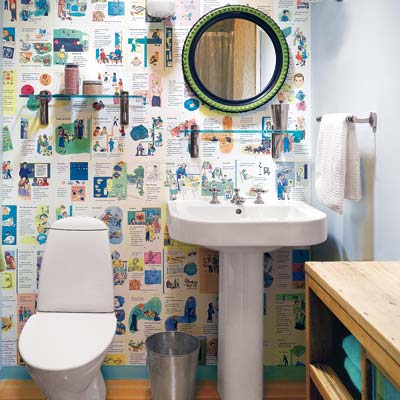 6 Make Your Own Wallpaper 28 Ways To Refresh Your Bath