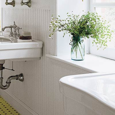 11 use water resistant wainscot 28 ways to refresh your for Water resistant wainscoting for bathroom