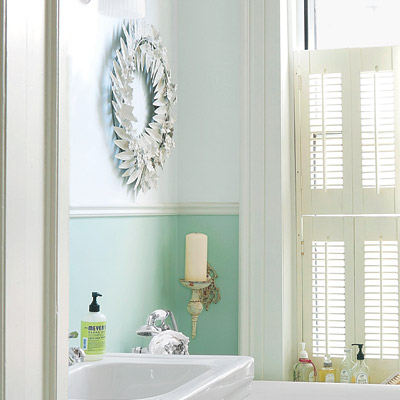 18. Paint Two-Tone Walls | 28 Ways to Refresh Your Bath on a ...