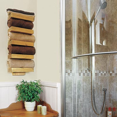 Towel Rack  Bathroom on 23  Make A Rustic Towel Rack   28 Ways To Refresh Your Bath On A