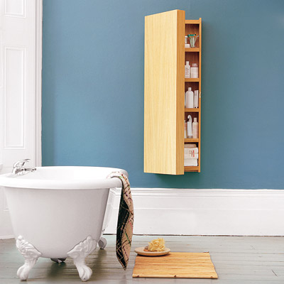 bathroom with wall mounted cabinet