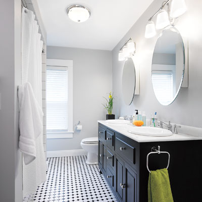 From Dated To Sophisticated DIY Bath Renovation From Dated To Sophisticate