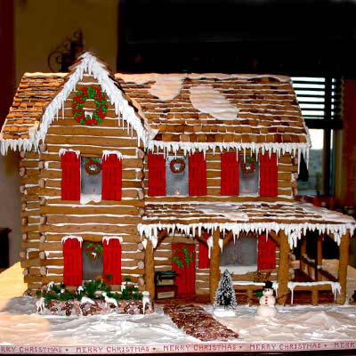 Finalist Mountain Cabin 2011 Gingerbread House Contest