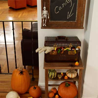 Handy Candy Table salvage style DIY Halloween Party Decoration