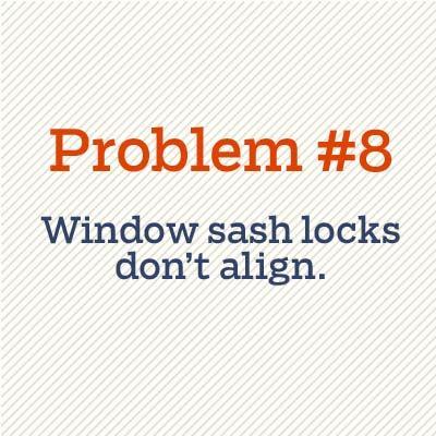 window sash locks don't align