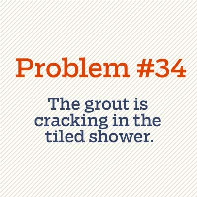 grout is cracking in tiled shower