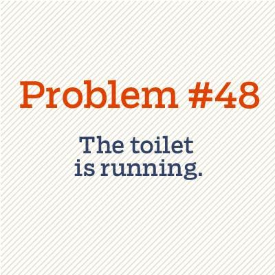 toilet is running