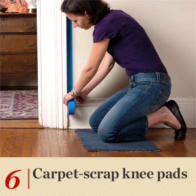 Carpet-Scrap Knee Pads reader tip to save time and money