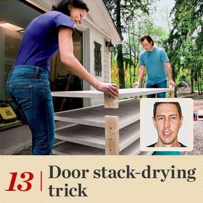 Door Stack-Drying Trick  reader tip to save time and money