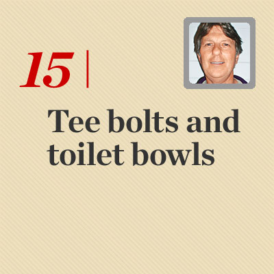 Tee Bolts and Toilet Bowls reader tip to save time and money