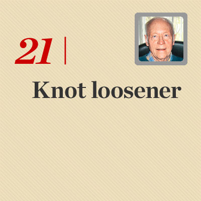 Knot Loosener reader tip to save time and money