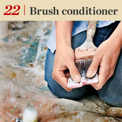 Brush Conditioner reader tip to save time and money