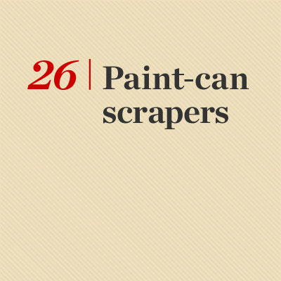 Paint-Can Scrapers reader tip to save time and money
