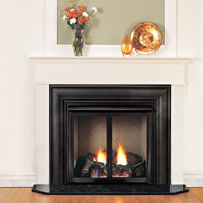 gas powered fireplace easy upgrade home solution