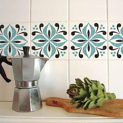 kitchen wall tiles with stick on accents