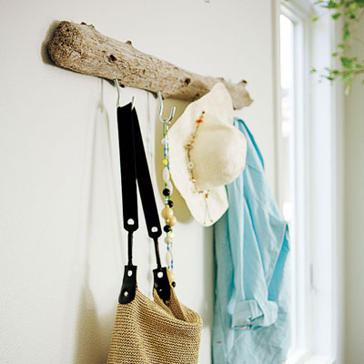 driftwood coat rack for easy upgrade