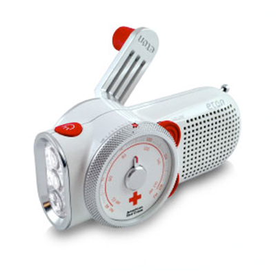 triple duty weather radio by brookstone