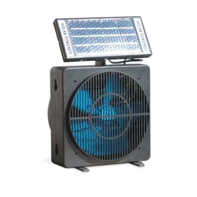 solar-powered fan