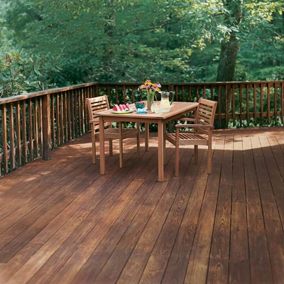 spruced up deck