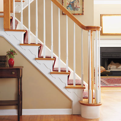 interior stairs with decorative brackets