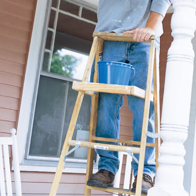 Choose a safe ladder height