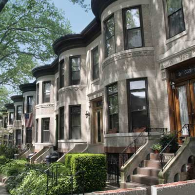 a row of houses in Bay Ridge, Brooklyn, New York