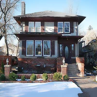 house located in the crescents neighborhood in regina, saskatchewan, canada