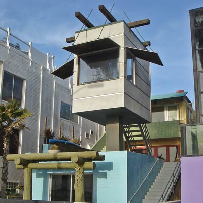 a quirky Gehry-styled beach house