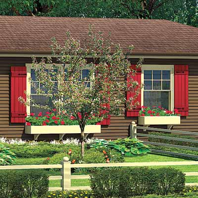 ranch house with simple window boxes