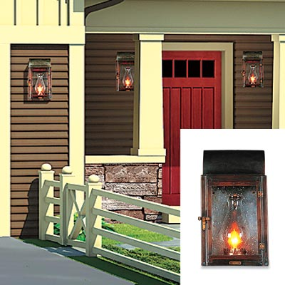 ranch house with exterior sconces