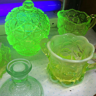 Glowing glassware