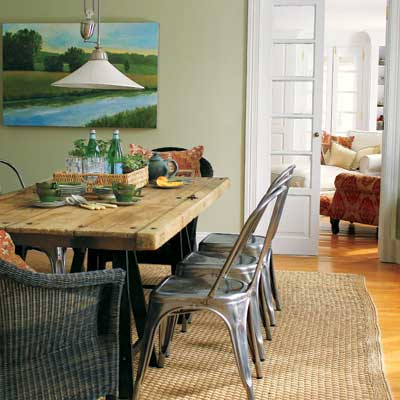 rustic french dining room