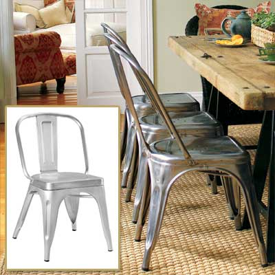 Industrial-Style Seat in get this look french dining room