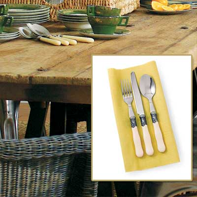 Elegant Flatware in get this look french dining room