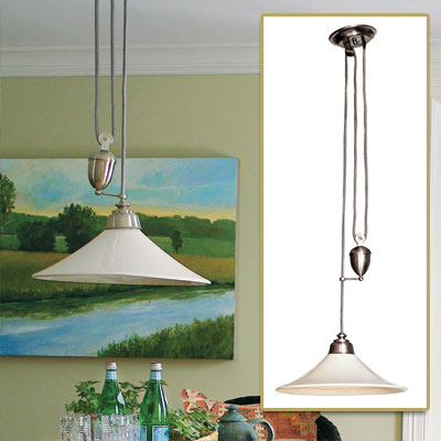Adjustable Pendant in get this look french dining room