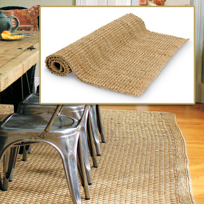 Natural Rug in get this look french dining room
